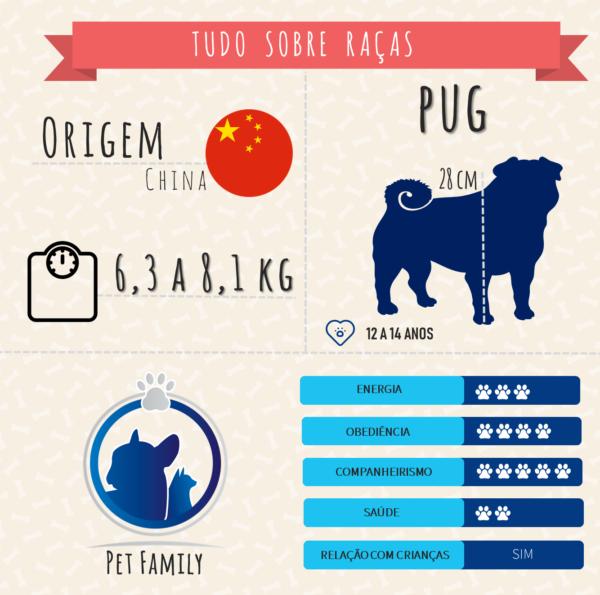 Infográfico raça pug